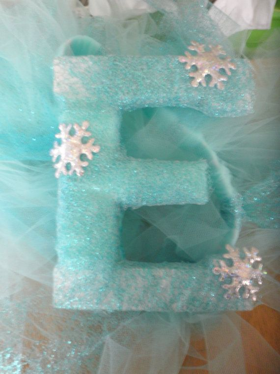 Custom Frozen themed solid wooden letter by SunshineMamaBoutique
