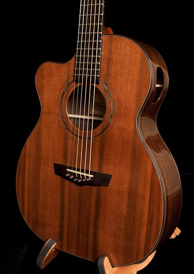 Indian Rosewood Guitar with a Sinker Redwood Soundboard - Handmade left handed Lichty guitar