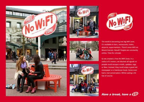 Kit Kat: Free No-WiFi Zone  Great stuff!!!
