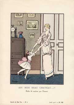 Ah! Mon Beau Chateau.!!! Illustration Gazette Du Bon Ton