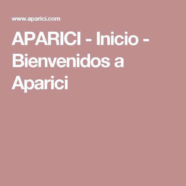APARICI -  Inicio - Bienvenidos a Aparici