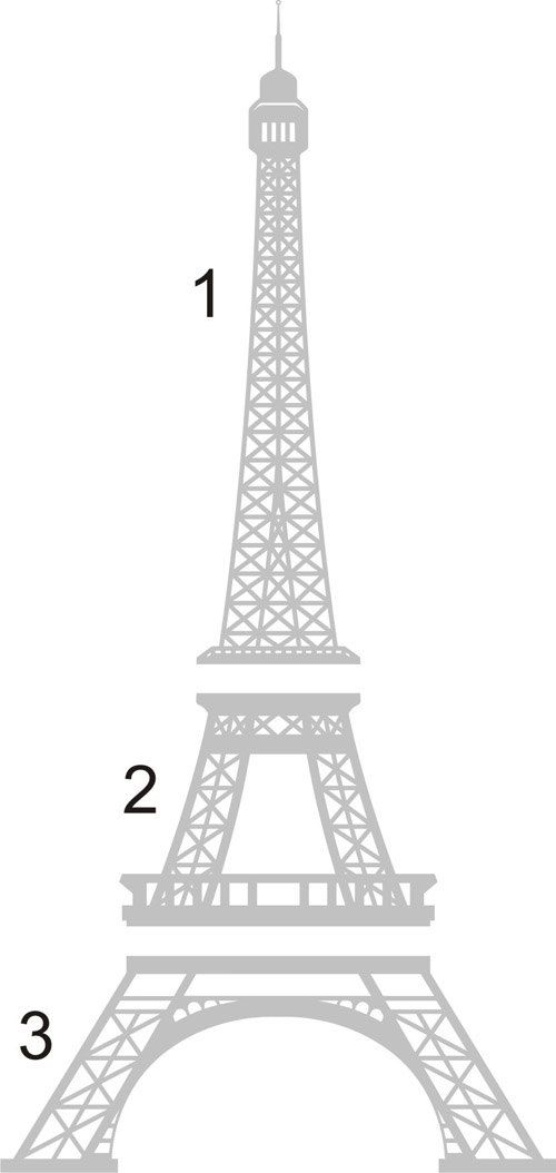 Eiffel Tower to papercut