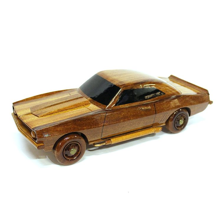 High quality wooden Chevrolet (Chevy) Camaro Wood Car Model - Wooden Hand Carved Car model
