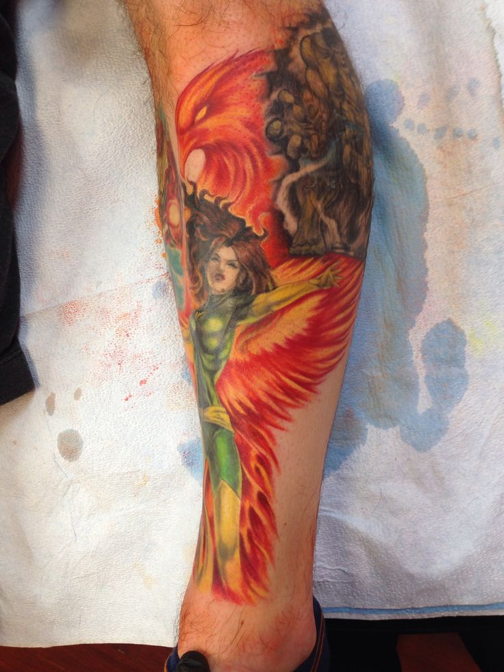 phoenix jeangrey tattoo xmen tattoo pinterest phoenix xmen and tattoos and body art. Black Bedroom Furniture Sets. Home Design Ideas
