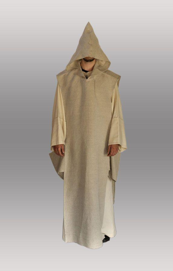 abito ecclesiastico monastico stile Certosino (tunica e scapolare) estivo confezionato con stoffa di canapa di Champorcher