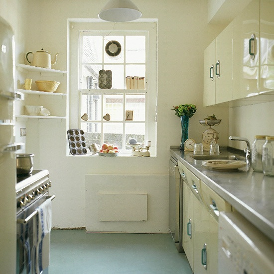 Vintage Kitchen With Metal Cabinets And Vintage Accessories