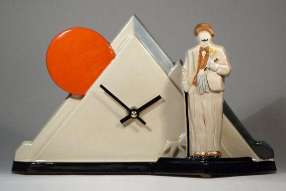 Echo of Deco Art Deco Inspired Hercule Poirot Death On the Nile Mantel Clock