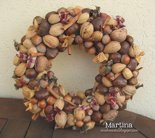 nuts wreath
