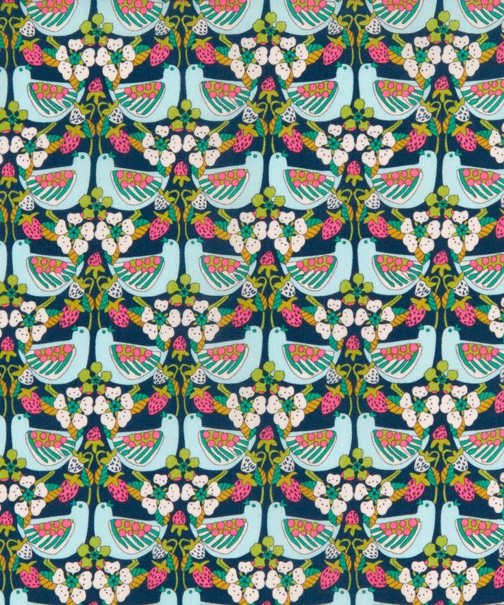 Liberty Art Fabrics Strawberry Feast Tana Lawn Cotton | Fabric | Liberty.co.uk