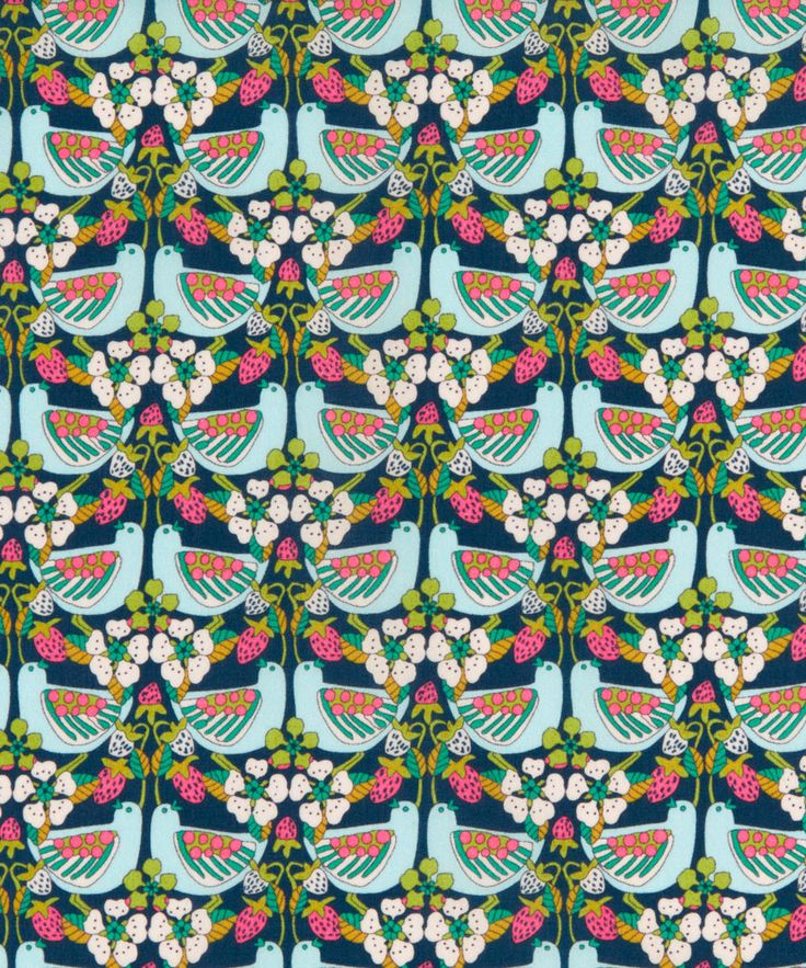 Liberty Art Fabrics Strawberry Feast Tana Lawn Cotton | Fabric | Liberty.co.uk