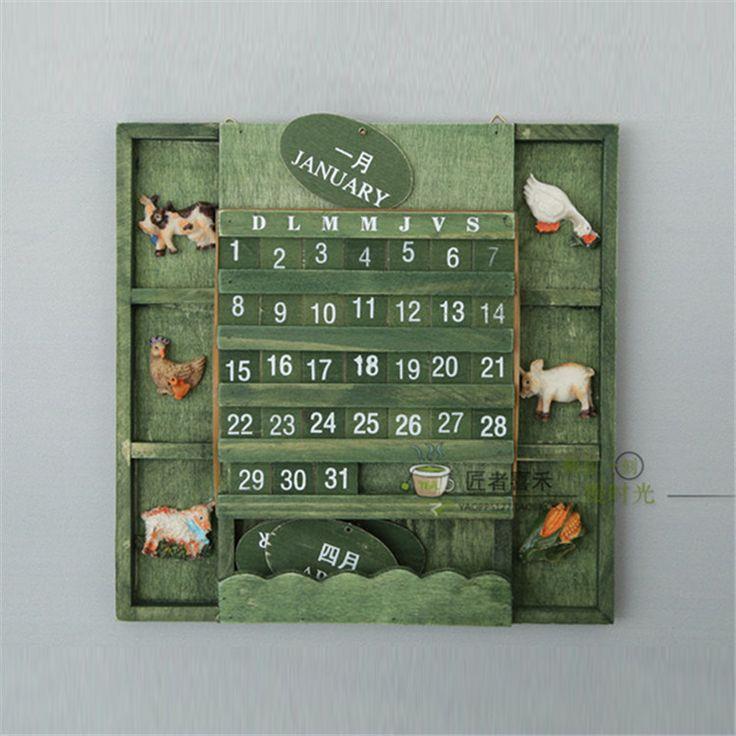 Zakka miditerranean Море деревянный Стол Календарь Настольный Органайзер Планировщик Книга Офисная Поставки Стоя Школы(China (Mainland))