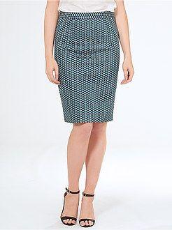 Faldas - Falda de tubo de satén de algodón - Kiabi