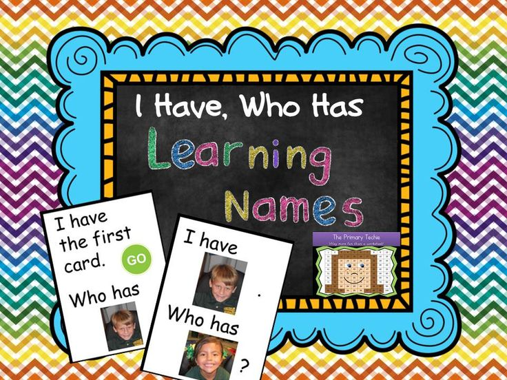 "FREE ""I Have, Who Has"" cards.  Just print and add pictures of your kiddos!"