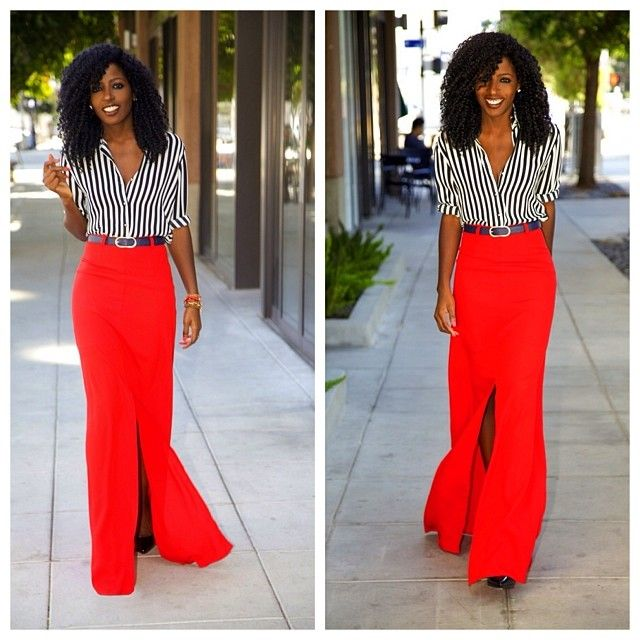Best 10  Red maxi ideas on Pinterest   Red skirt outfits, Red maxi ...