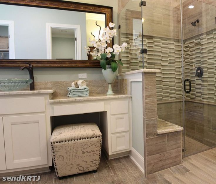 Cool Bathroom Vanity With Makeup Counter Ideas