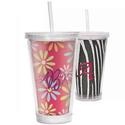 """Insert size: 11.03"""" x 6.47"""" tapered  Holds two inserts, one viewable from the inside and one viewable from the outside  BPA Free  Bottom screws off to slide in your insert  Includes acrylic straw with built in stopper (so straw doesn't slip out)  Double walled to keep liquids cold  Comes with four pre-printed inserts that frame a 6"""" x 4"""" photo  Not microwave or dishwasher safe  Great for embroidery, craft projects, photos, scrapbooking, and more!    Works great with QuickStitch Embroidery…"""