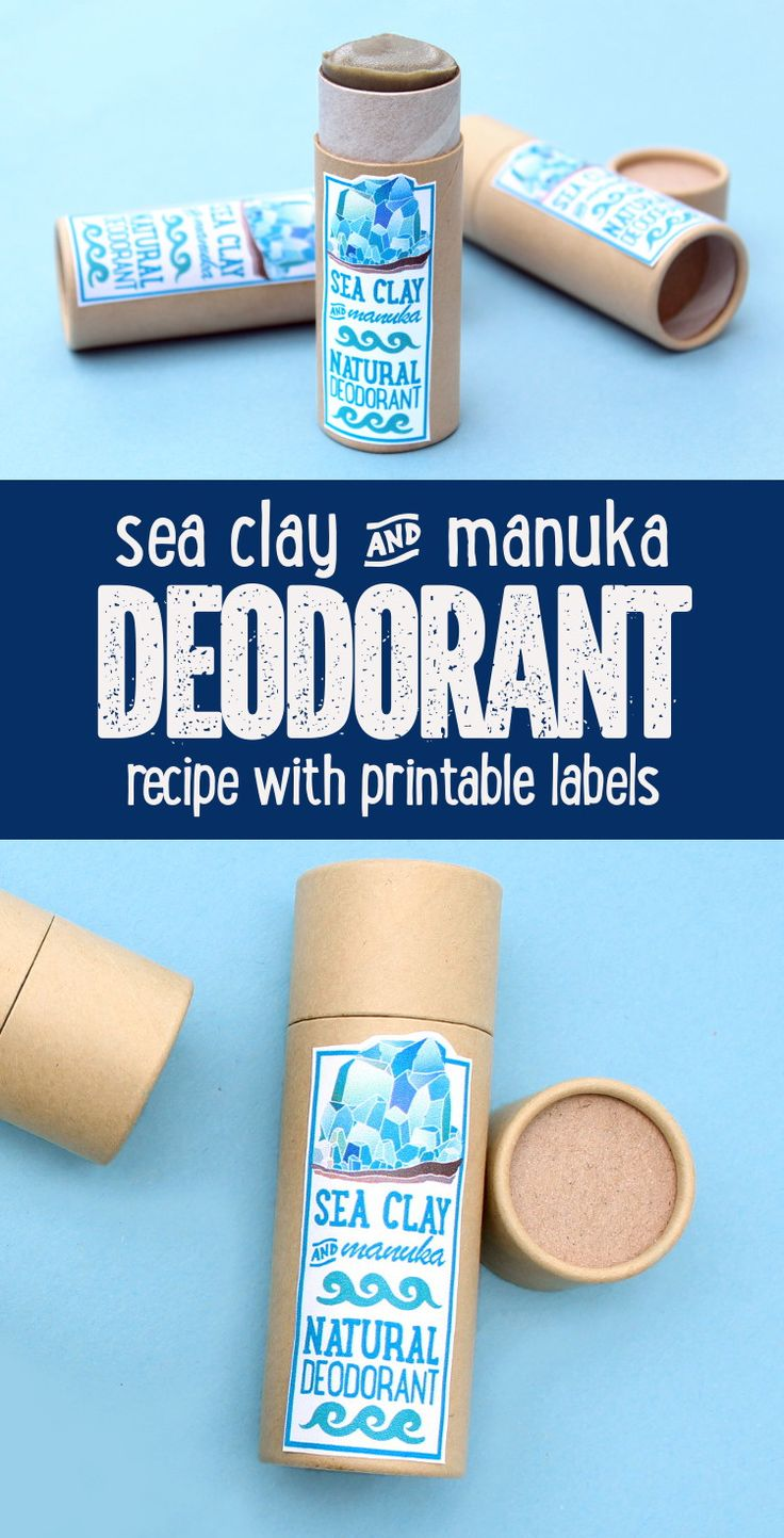 Manuka Oil Deodorant Recipe with Sea Clay! This manuka oil deodorant recipe is a great choice for anyone wanting to switch to a natural, non-irritating deodorant. Made with antifungal and antibacterial manuka essential oil as well as detoxifying, mineral rich sea clay, this natural manuka oil deodorant recipe fights body odor without synthetic or toxic ingredients and offers a fresh, uni-sex scent perfect for summer.