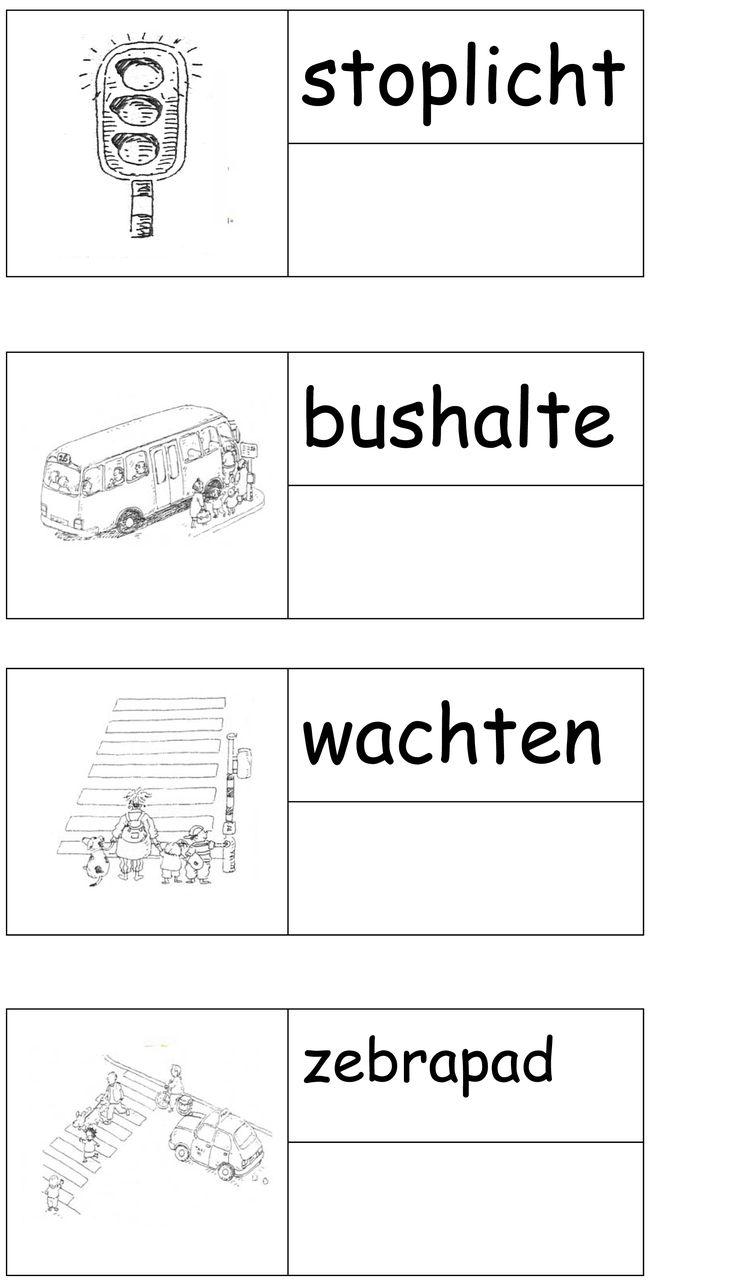 Werkblad: vervoer verkeer geletterdheid stempelen - van www.kleutergroep.nl