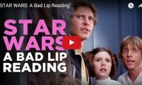 """""""STAR WARS: A Bad Lip Reading"""" Hahaha… Bad Lip Reading, put out not one… or two, but THREE videos from the original Star Wars trilogy for our entertainment pleasure. The voice overs include Jack Black as Darth Vader, Maya Rudolph as Princess Leia, and Bill Hader as Uncle Owen…"""
