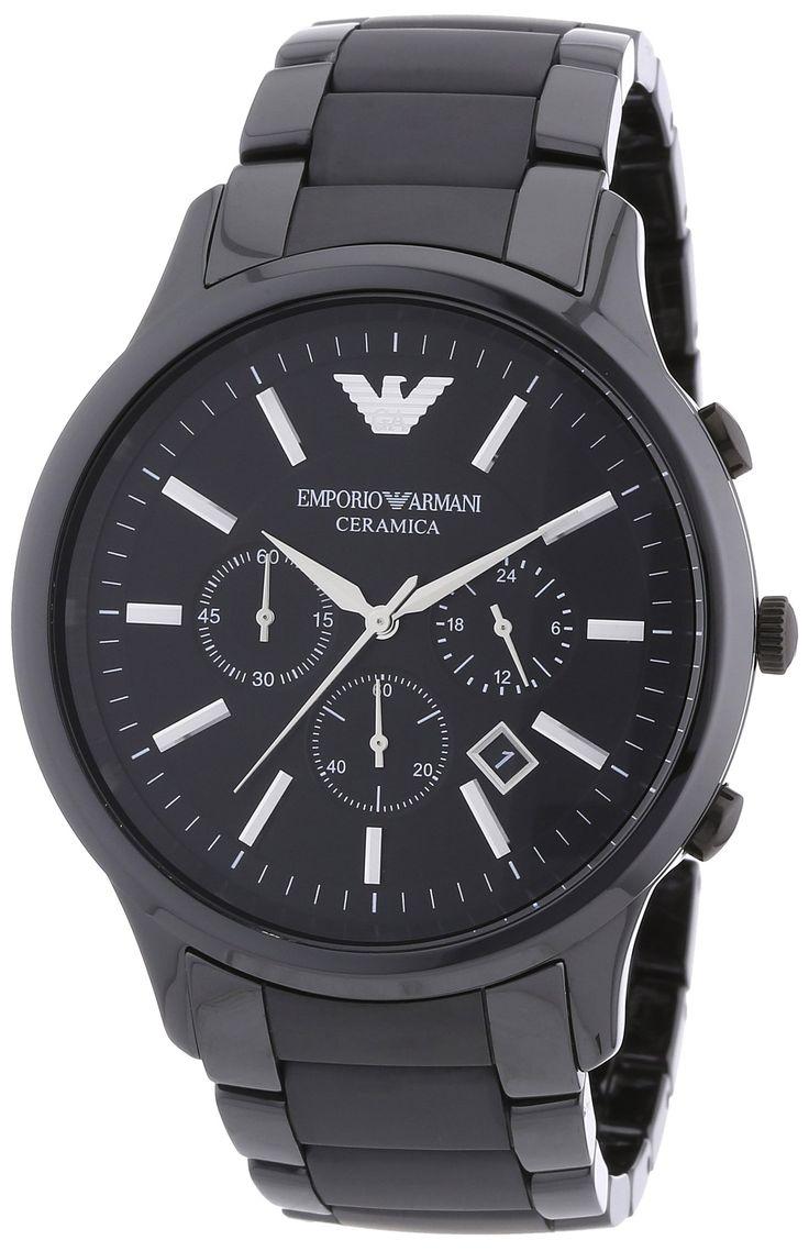 Emporio Armani Herren-Armbanduhr XL Chronograph Quarz Keramik AR1451 - #keramikuhr #chronograph #armani #emporioarmani #armbanduhr #herrenuhr - http://uhrify.de/uhrenmarken/armani-uhren-herren/