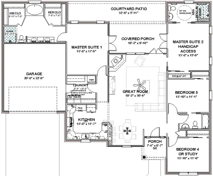House Plans With Three Master Suites Details About Complete House Plans 2306 Sq Ft 2