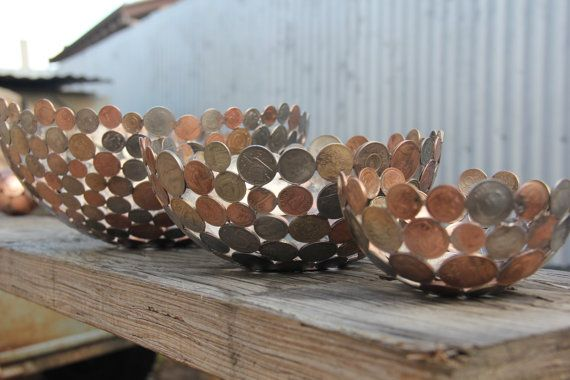 Have a bowl made from your old coins as a memento of your travels, or a remembrance piece from times past.    They are made from your coins, lovingly                                                                                                                                                                                 More