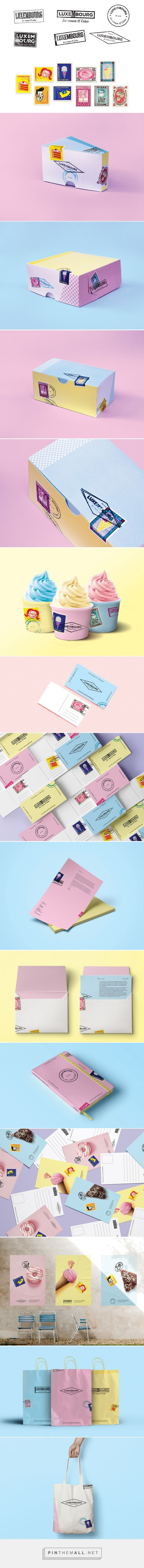 Luxembourg Ice Cream and Cakes Branding and Packaging by Jasmina Zornic | Fivestar Branding Agency – Design and Branding Agency & Curated Inspiration Gallery