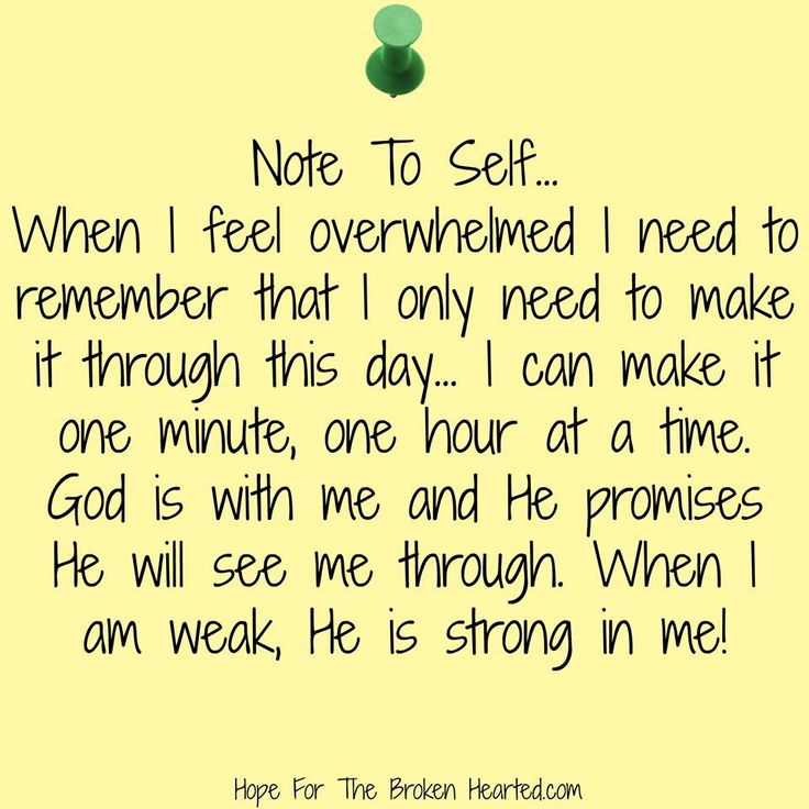 Note to self...Daily Reminders For The Broken Hearted by Debbie Kay