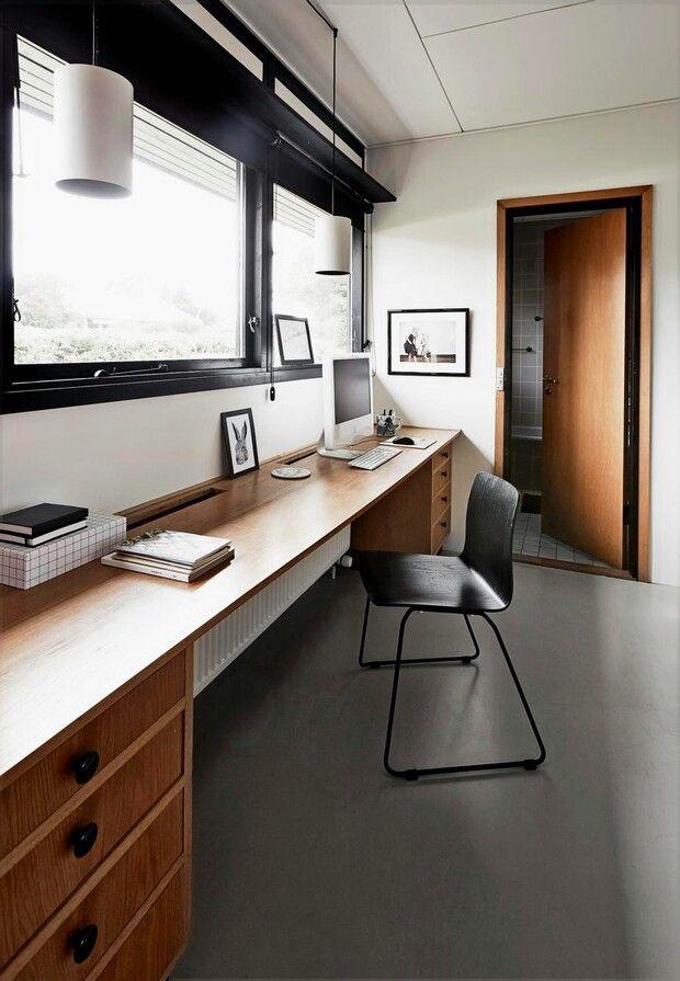 Skrivebord i soveværelse