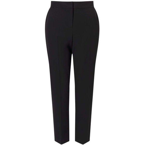 Miss Selfridge Black Ciagrette Trouser featuring polyvore, women's fashion, clothing, pants, black, miss selfridge, cigarette trousers and cigarette pants