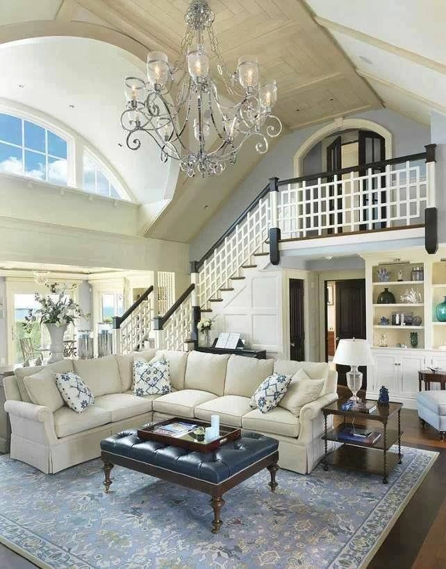 cool world most beautiful home living room | Really cool balcony-like entrance to this living room ...
