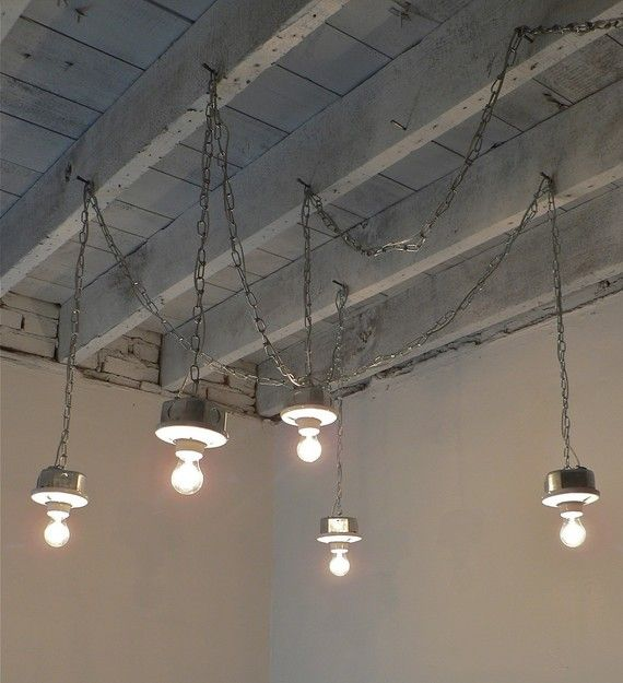 This Handcrafted 5-Light Plug-In Galvanized Interior Industrial/Loft/Minimalistic Chandelier is constructed entirely of UL Listed materials, including zinc-plated and galvanized steel and porcelain. Bulbs are not included. Chains/cords can be adjusted according to your desires. The center box as well as the four others are 4 octagon boxes which will easily hang from properly mounted ceiling hooks. Comes assembled. The mounting possibilities are endless. Please see pictures for ...