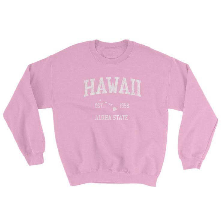 Vintage Hawaii HI Adult Sweatshirt (Unisex)