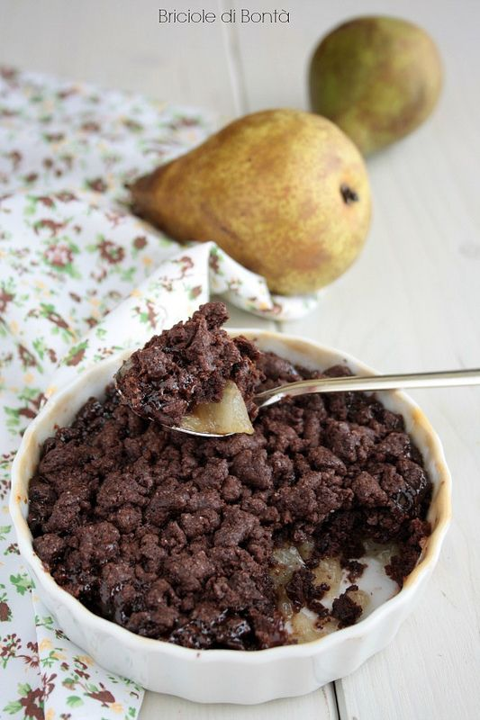 pear chocolate crumble