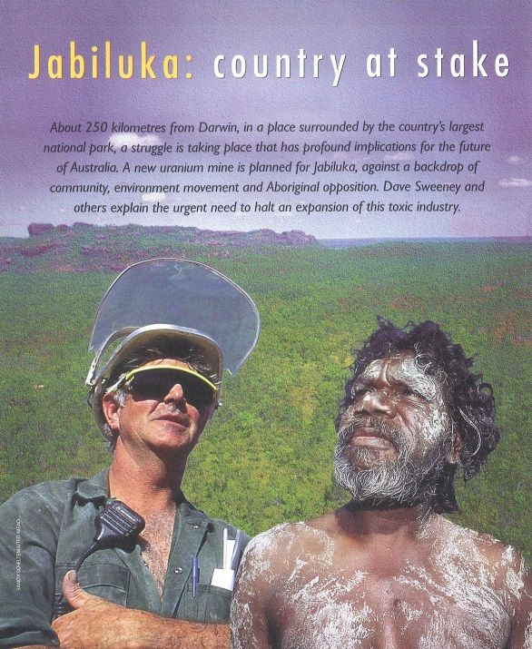 Jabiluka: Country at Stake, Habitat Australia Supplement, 1998, Australian Conservation Foundation.  8 pg supplement that came out in 1998 explaining all about Jabiluka - the history, the campaign, the politics, the blockade...