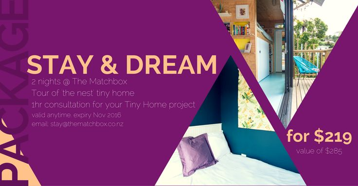 stay & dream package we've put together. see two tiny homes, stay in one, and ask us all your burning questions :)