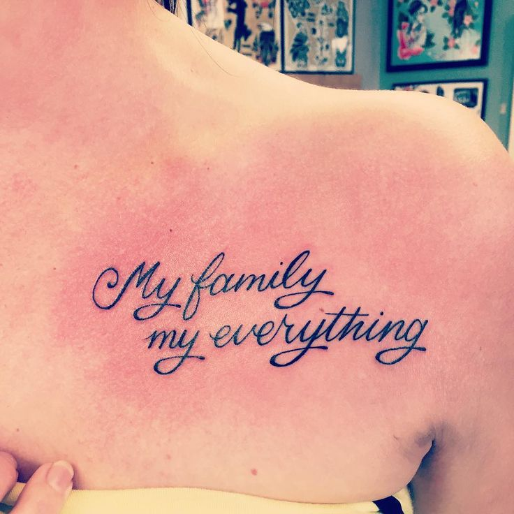 collar bone tattoo quotes about family