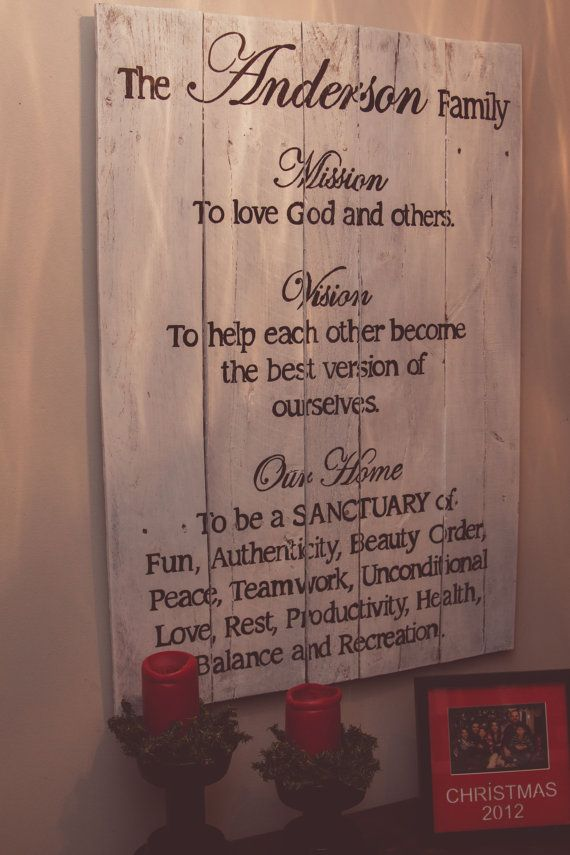 Large Customized Family Mission Statement by