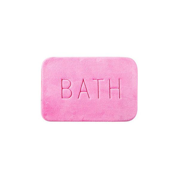 45x60cm BATH Memory Foam Floor Carpet Non-slip Coral Velvet Bedroom... ($8.65) ❤ liked on Polyvore featuring home, bed & bath, bath, bath rugs, pink, memory foam bathroom rug, pink bathroom rugs, coral bath rugs, memory foam bath rug and pink bath rug