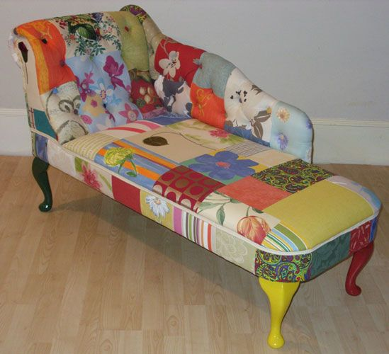 1000 images about patchwork furniture on pinterest for Chaise longue patchwork
