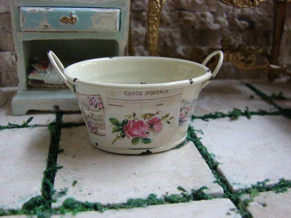 dollhouse miniature laundry rooms | Dollhouse Miniature Shabby Chic Farmhouse Vintage Cream Color Metal ...