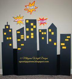 Superhero Skyline Cityscapes,