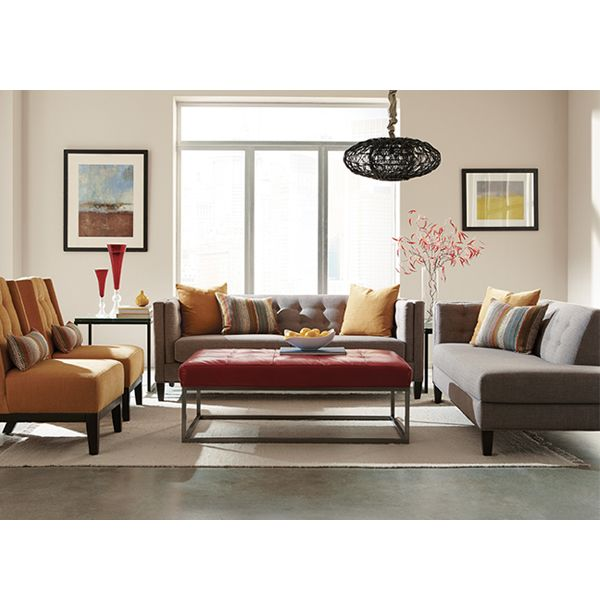 With Itu0027s Tuxedo Arms And Button Tufted Details, The Harmony Sofa Is A  Style And