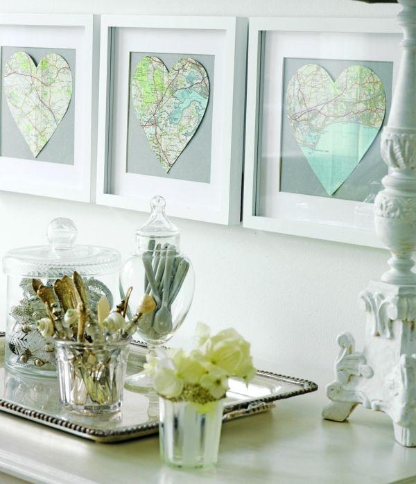 Valentinstag Deko Idee Wandgestaltung-Herz Girlande