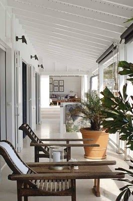 tropical style - dark timber and white