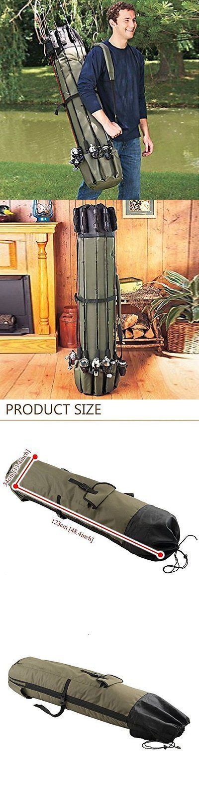 Rod Cases Tubes and Racks 81473: Fishing Rod Reel Tackle Case Bag Organizer Carrier Holder Pole Tools Storage BUY IT NOW ONLY: $35.31