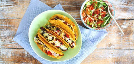 Gevulde taco's met salsa