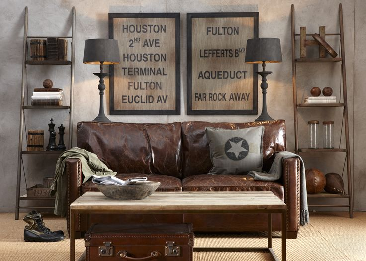Too Many Ideas, Not Enough Rooms :( Grey Walls, Brown Leather Sofa