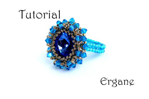 It's great fun to make your own jewellery, especially when everybody adores it . This ring will look great in any color.    #beaded #jewelry #tutorial #ring #jewelry #swarovski #crystal #beading #beadwork