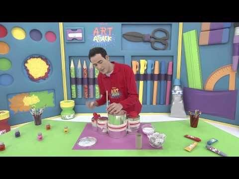 Art attack - Batterie portative- Sur Disney Junior - VF - YouTube